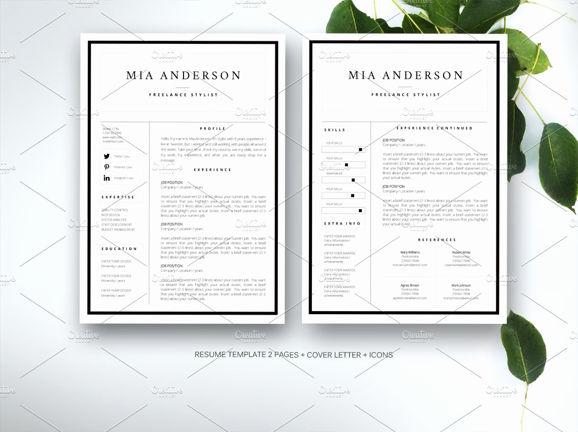 Creative Resume Template Word Elegant Resume Template for Ms Word Resume Templates Creative