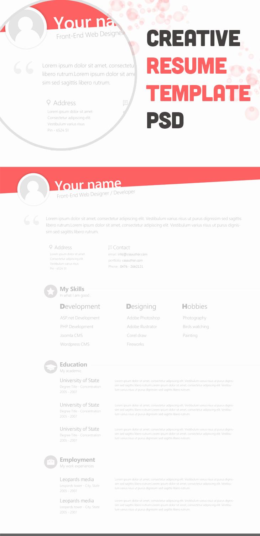 Creative Resume Template Word Fresh Free Creative Resume Template Freebies Fribly