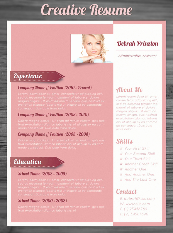 Creative Resume Template Word Lovely 21 Stunning Creative Resume Templates