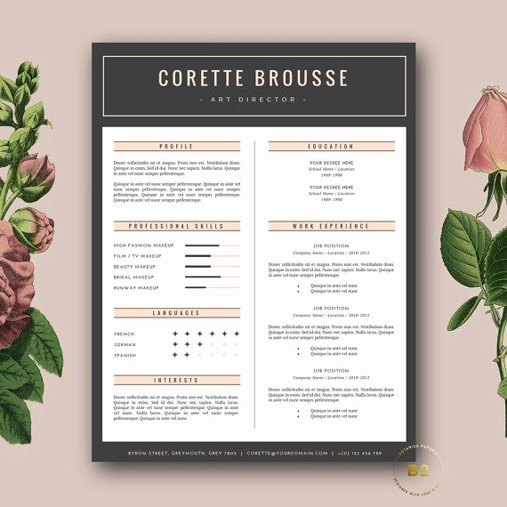 Creative Resume Template Word Lovely 25 Best Ideas About Creative Resume Templates On