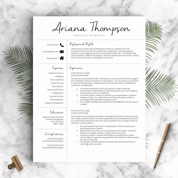 Creative Resume Template Word Luxury Best 25 Fashion Resume Ideas On Pinterest