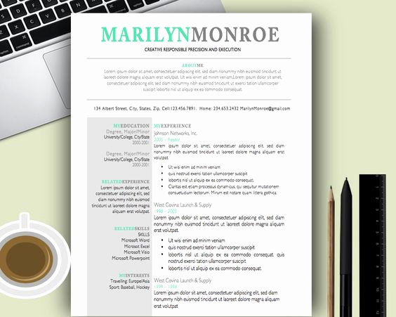 Creative Resume Template Word New Premium and Creative Resume Templates Cover Letters