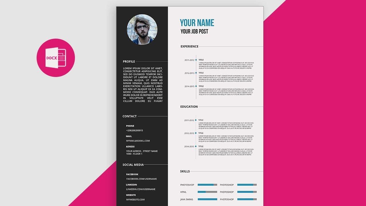 Curriculum Vitae Template Microsoft Word Best Of Cv Resume Template Design Tutorial with Microsoft Word