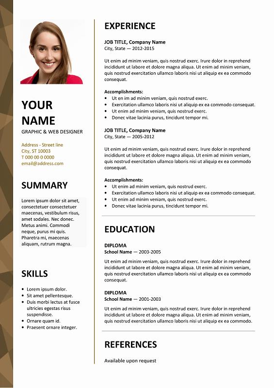 Curriculum Vitae Template Microsoft Word Fresh Free Curriculum Vitae Templates Microsoft Word Free 2