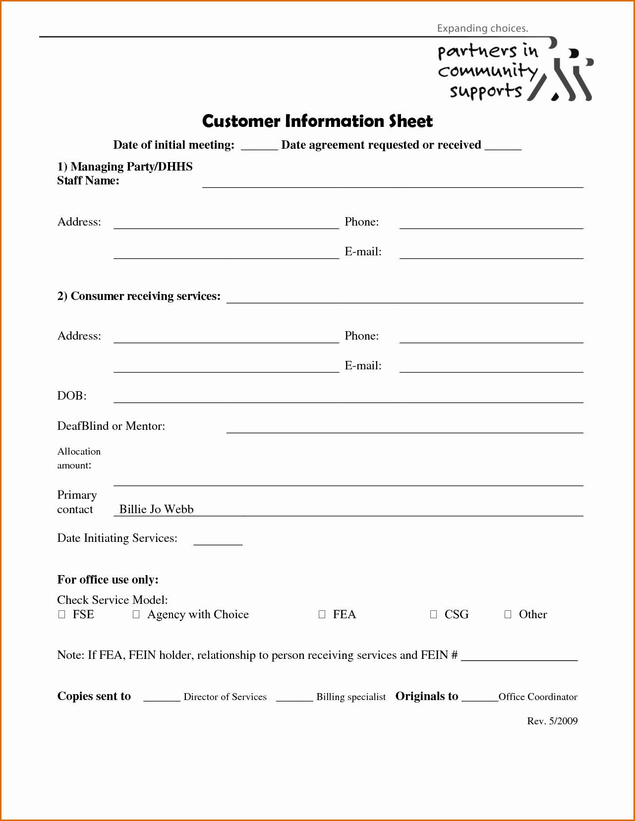 Customer Information Sheet Template Awesome 10 Client Information Sheet Template