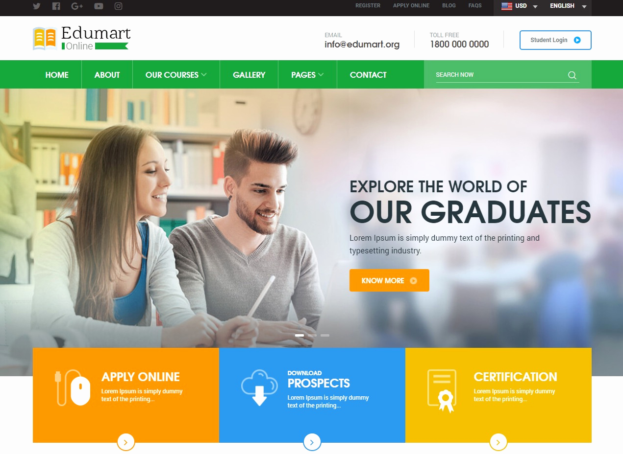 Download Free Web Templates Awesome 30 Amazing Education Website Templates for College