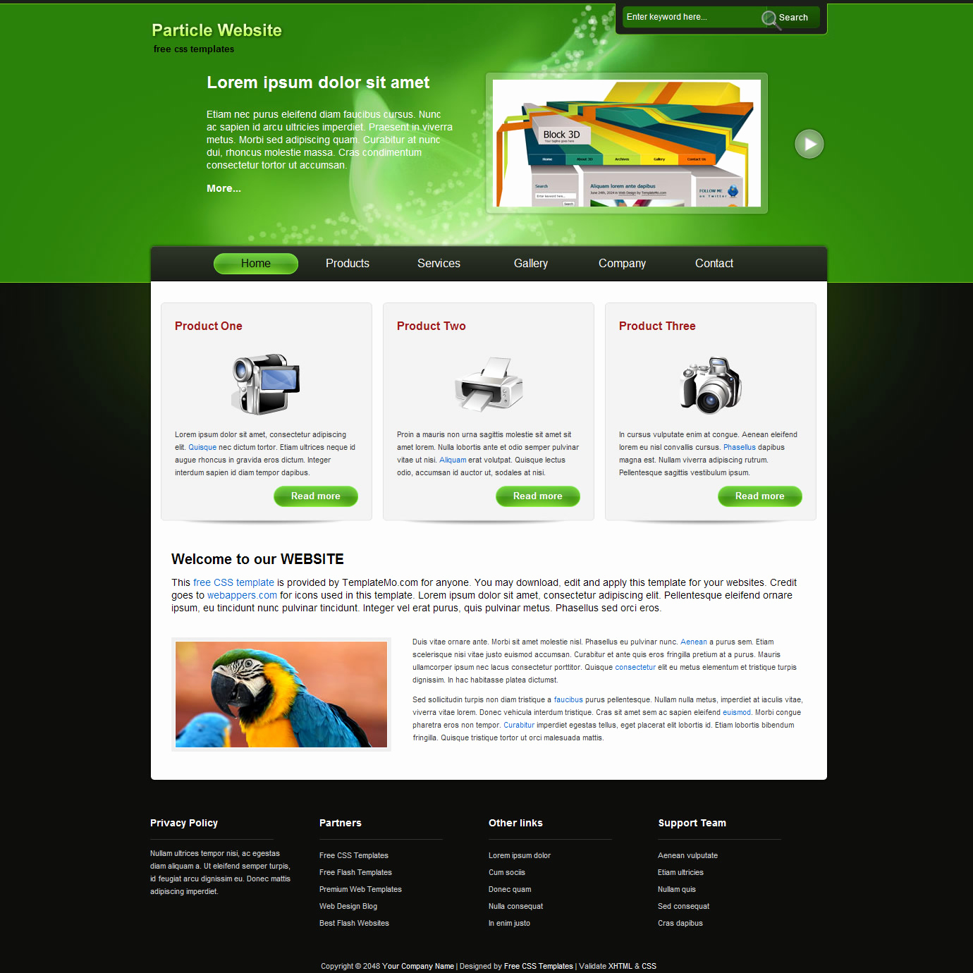 Download Free Web Templates Awesome 45 Free and High Quality Css Xhtml Business Website