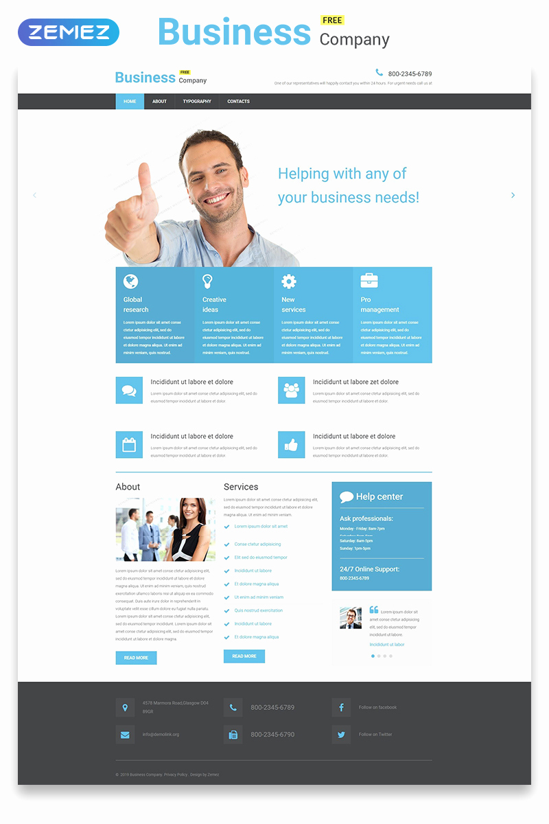 Download Free Web Templates Awesome Free Business Responsive Website Template