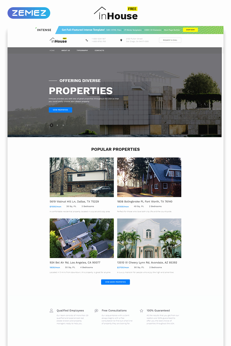 Download Free Web Templates Awesome Free Website Template Real Estate