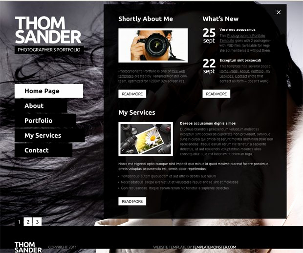 Download Free Web Templates Beautiful Free Full Js Website Template Graphy Monsterpost