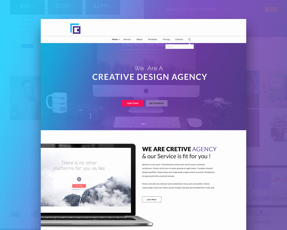 Download Free Web Templates Best Of Creative Agency Website Template Free Psd Download