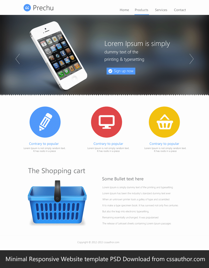 Download Free Web Templates Best Of Minimal Responsive Website Template Psd for Free Download
