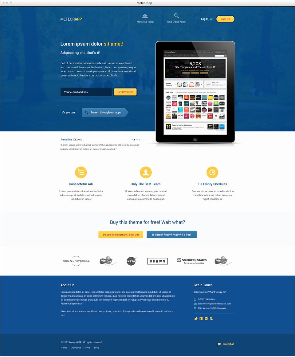 Download Free Web Templates Elegant Download 15 Free Psd Website Design Templates