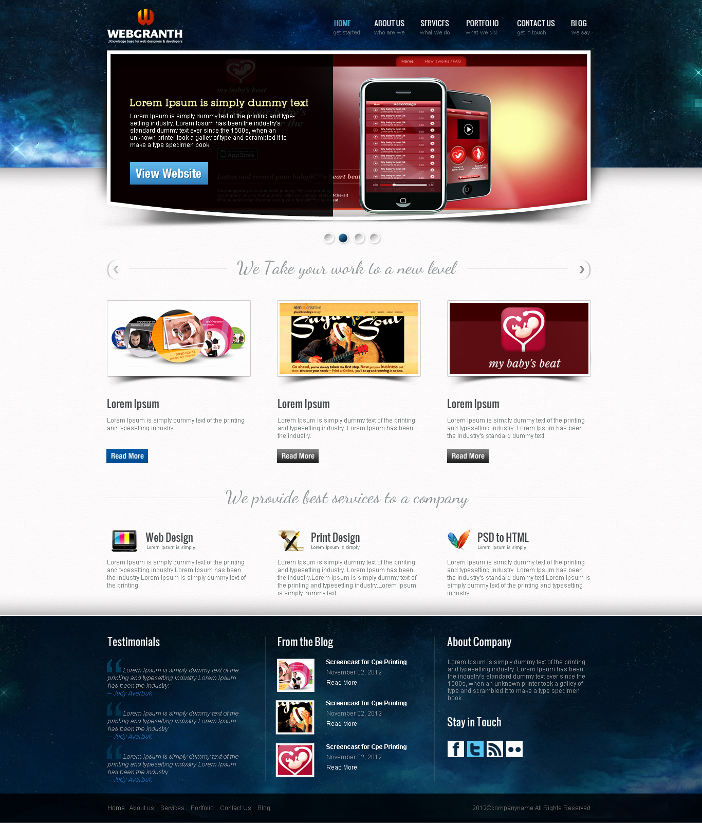 Download Free Web Templates Fresh Web Design & Development Psd Template