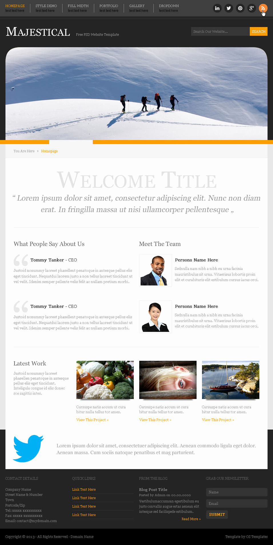 Download Free Web Templates Inspirational 60 Free Psd Website Templates