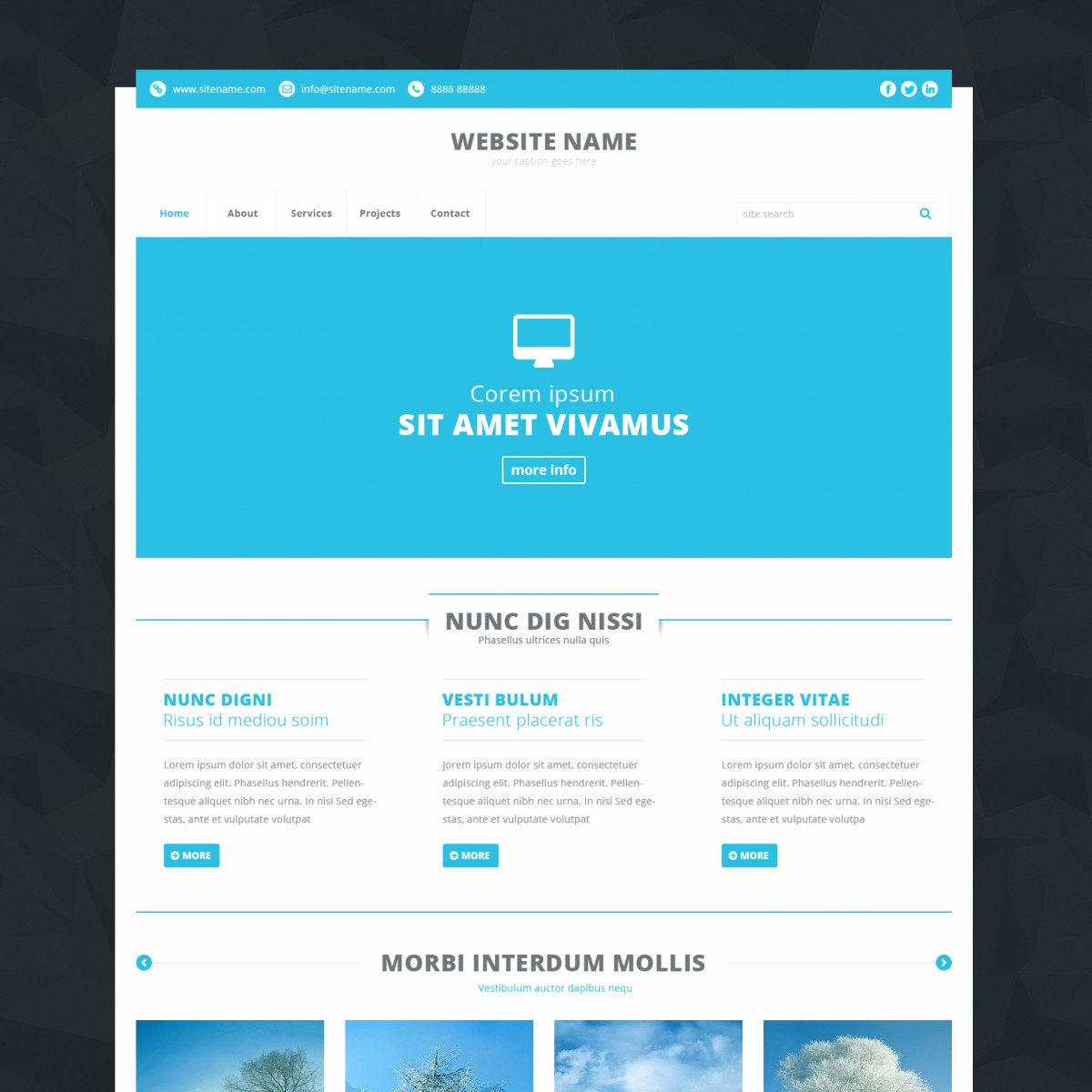 Download Free Web Templates Inspirational Download 170 Free HTML Templates Linesh
