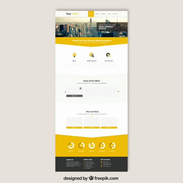Download Free Web Templates Inspirational Skyscrapers Website Template Vector