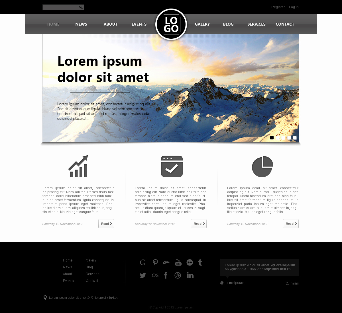 Download Free Web Templates Inspirational Well Designed Psd Website Templates for Free Download
