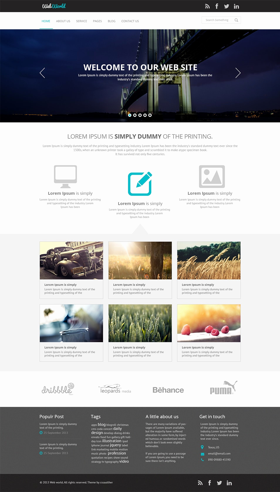 Download Free Web Templates Luxury Free Business Web Template Psd