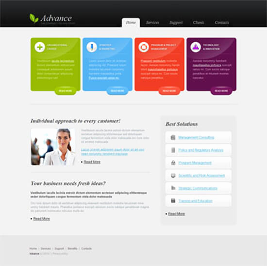 Download Free Web Templates Unique 20 Creative Web Templates for Free Download Ozone Eleven