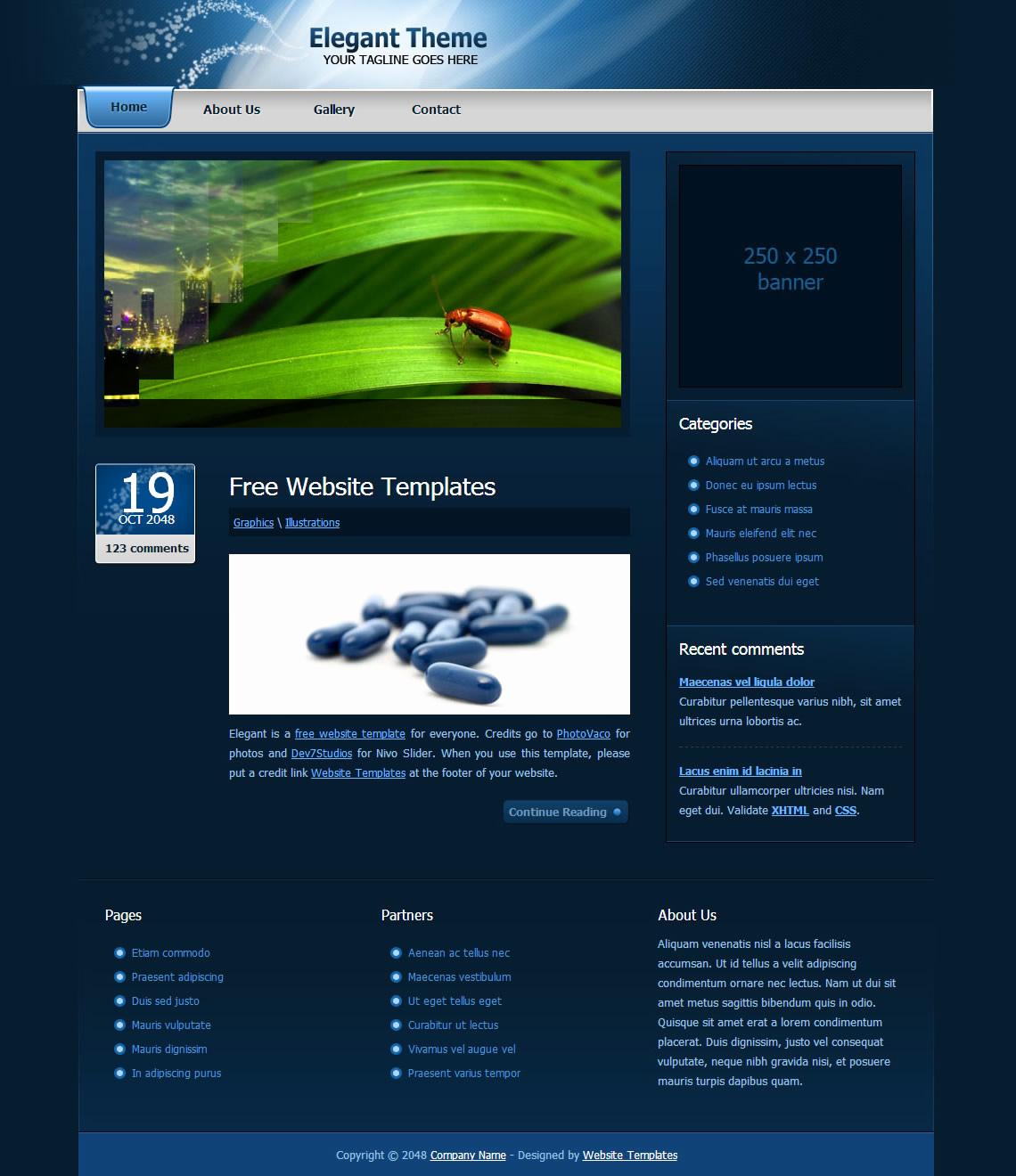 Download Free Web Templates Unique Elegant theme Free HTML Css Templates