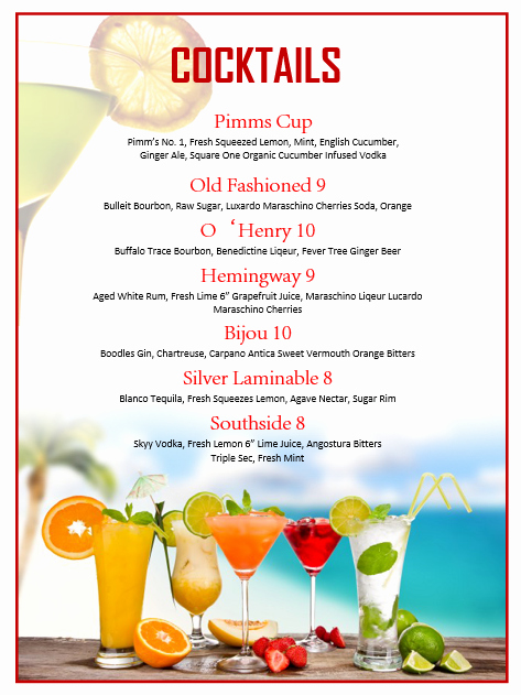 Drink Menu Template Free Best Of Pin by Betsy Mynatt On Home Bar Pinterest