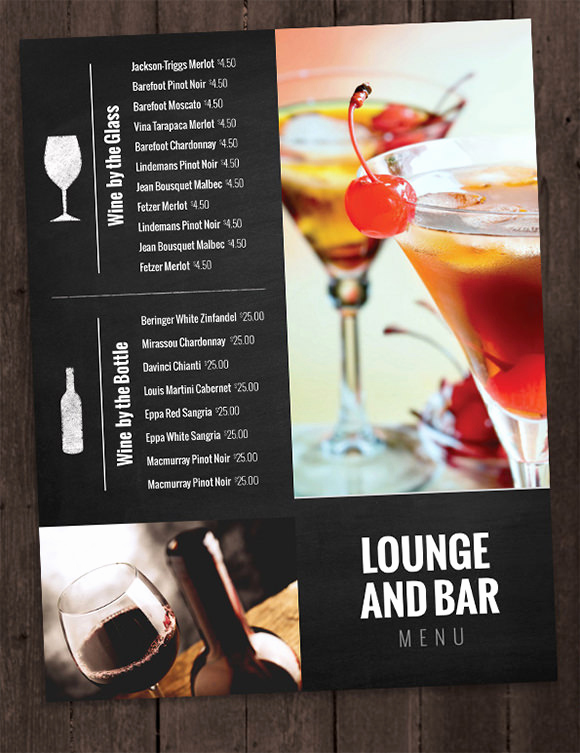 Drink Menu Template Free Elegant Drink Menu Templates – 30 Free Psd Eps Documents