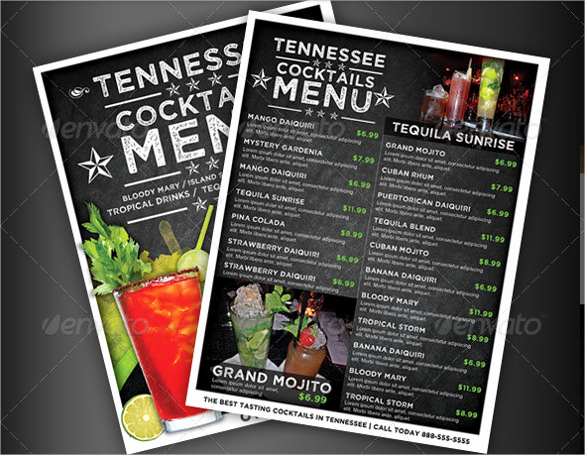 Drink Menu Template Free Lovely 28 Drink Menu Templates – Free Sample Example format