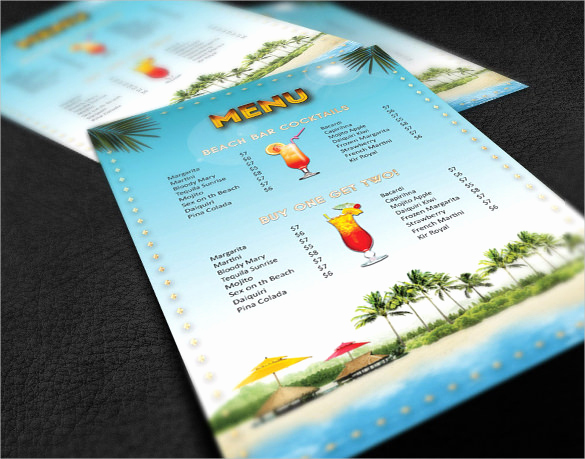 Drink Menu Template Free Lovely Cocktail Menu Templates – 54 Free Psd Eps Documents