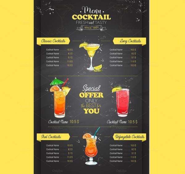 Drink Menu Template Free New 19 Vintage Menu Templates Ai Pages Psd Docs