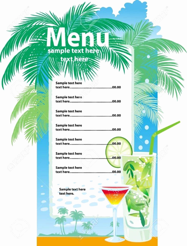 Drink Menu Template Free New 32 Bar Menu Designs