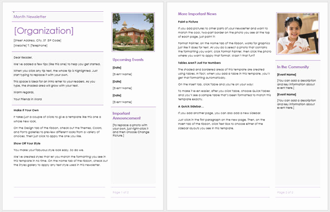 Elementary School Newsletter Template Awesome 13 Free Newsletter Templates You Can Print or Email as Pdf