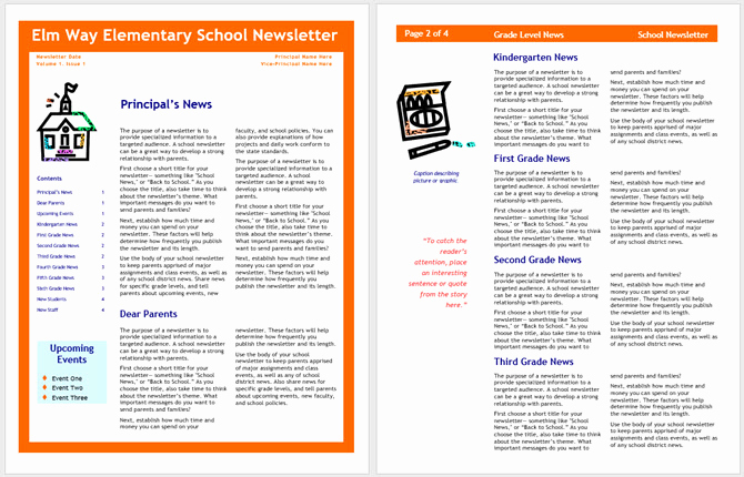 Elementary School Newsletter Template Best Of 13 Free Newsletter Templates You Can Print or Email as Pdf