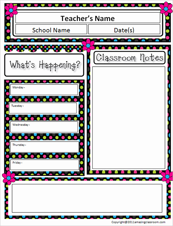 Elementary School Newsletter Template Elegant 9 Awesome Classroom Newsletter Templates & Designs
