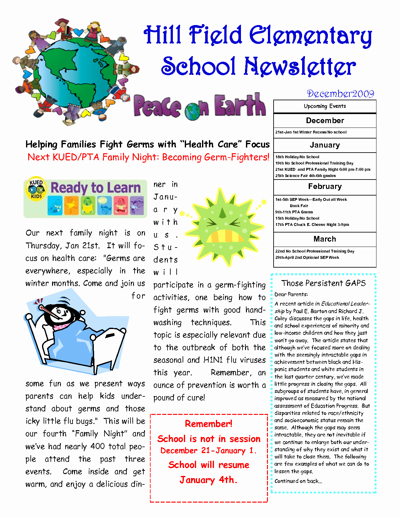 Elementary School Newsletter Template Inspirational 9 Best Of Sample School Newsletter Templates Free