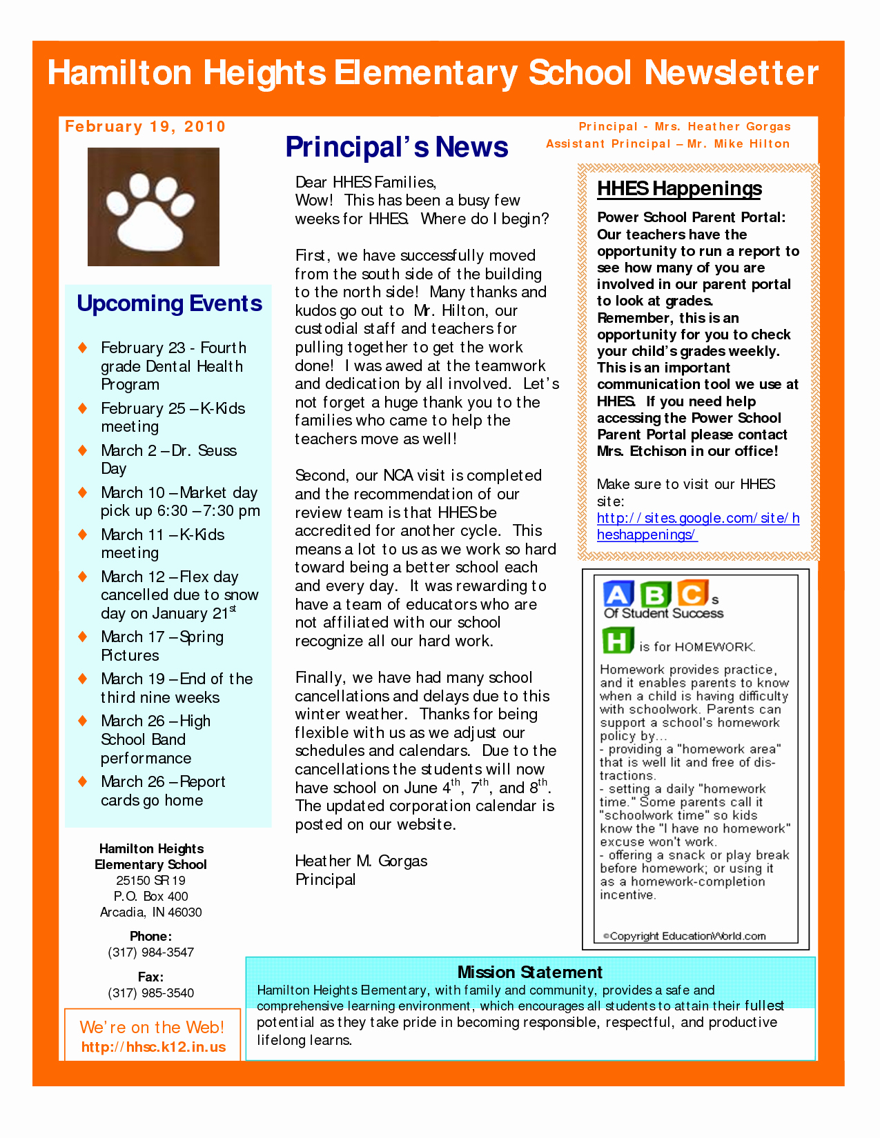 Elementary School Newsletter Template Inspirational Best S Of Sample School Newsletter Templates Free