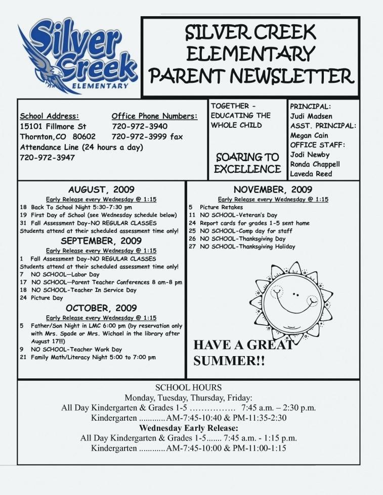 Elementary School Newsletter Template Inspirational Elementary Classroom Newsletter Template Luxury School