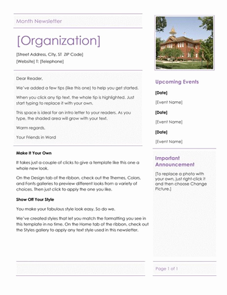 Elementary School Newsletter Template Inspirational Elementary School Newsletter