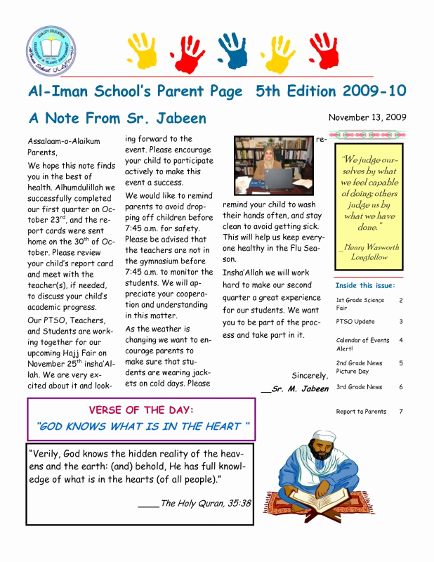 Elementary School Newsletter Template Lovely 12 13 Elementary School Newletters