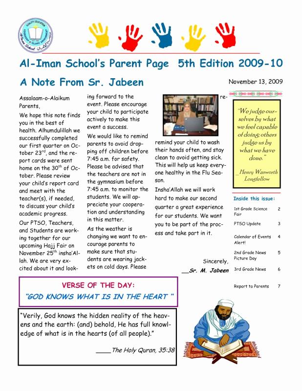 Elementary School Newsletter Template Lovely 12 13 Elementary School Newletters