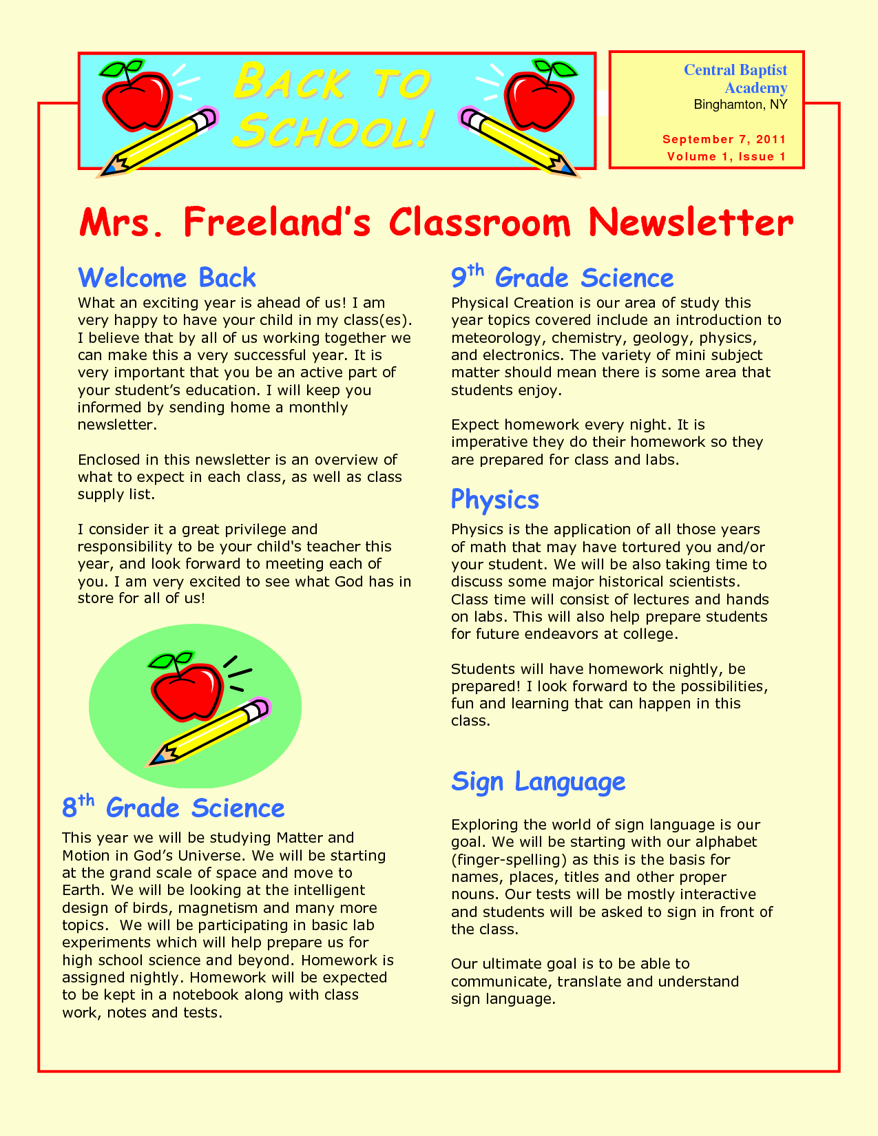 Elementary School Newsletter Template Lovely 9 Best Of Sample School Newsletter Templates Free