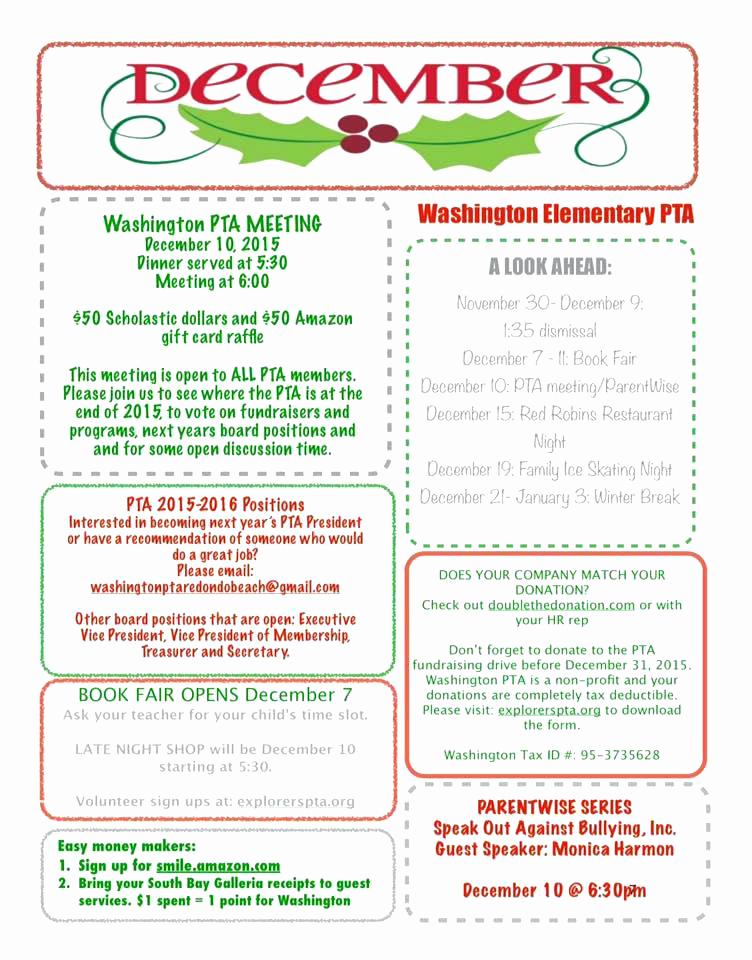 Elementary School Newsletter Template Lovely Elementary School Newsletters 5th Grade Class Newsletter