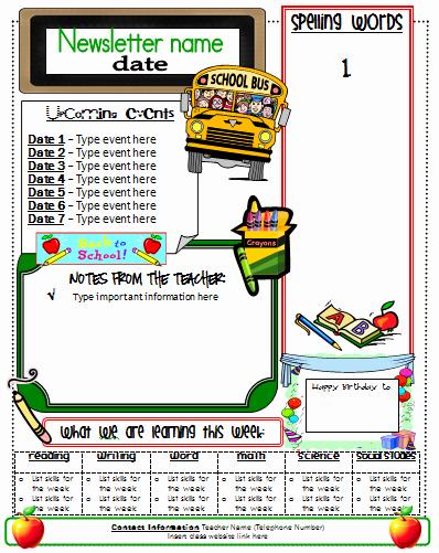 Elementary School Newsletter Template New Ginger Snaps Newsletter Template