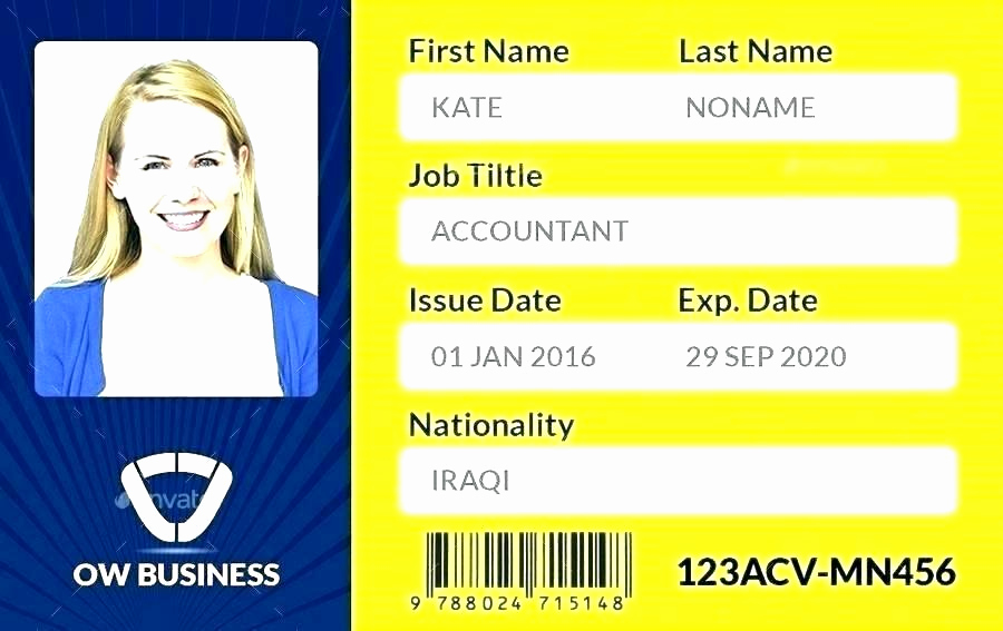 Employee Id Card Templates Awesome Amazing Id Card Templates to Download Sample Free Employee