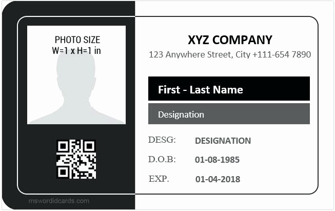 Employee Id Card Templates Best Of Employee Id Card Template for Ms Word Corporate Psd