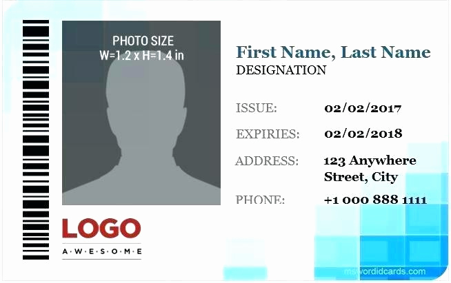 Employee Id Card Templates Elegant Employee Id Card Template Badge Shop