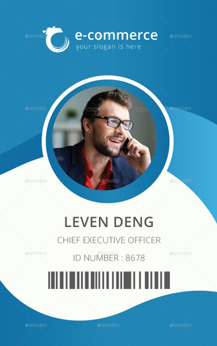 Employee Id Card Templates Elegant Template for Identification Card Id Badge