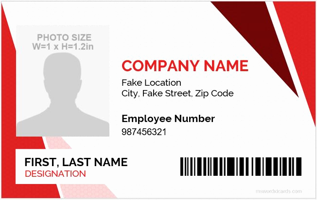 Employee Id Card Templates Fresh 5 Best Employee Id Card format In Word