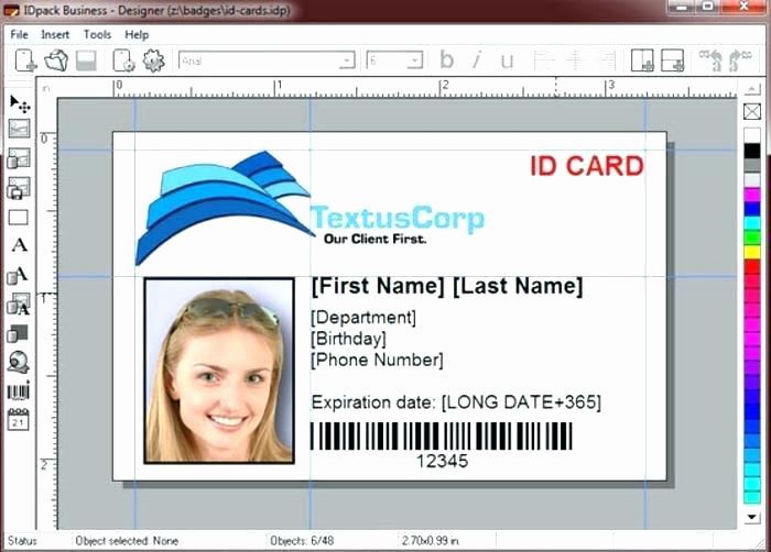 Employee Id Card Templates Fresh Employee Id Card Template Badge Shop