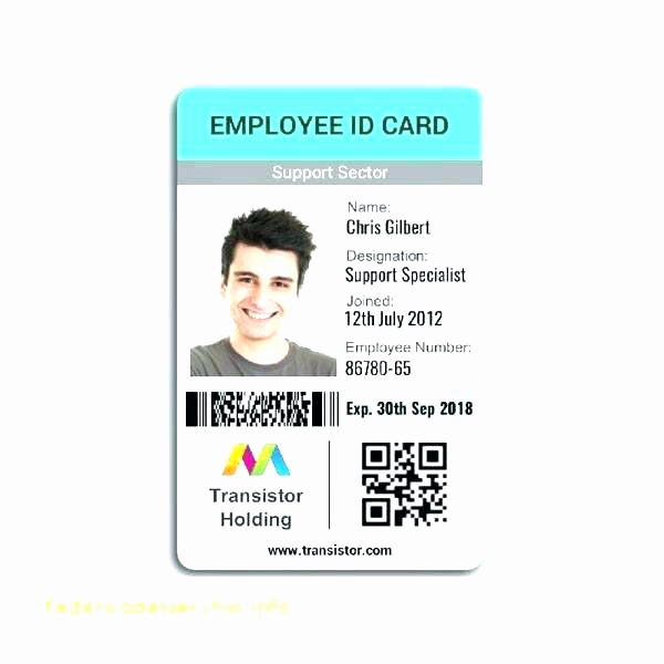 Employee Id Card Templates Fresh Fake Id Card Shop Template Pany Word – Btcromaniafo